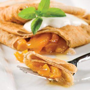 Crêpes de sarrasin farcies aux abricots