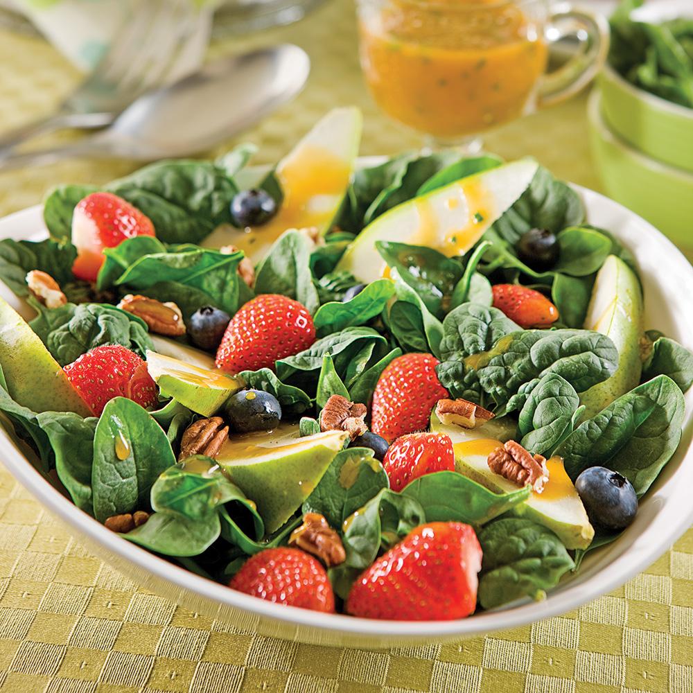 Salade fraîcheur épinards et poires