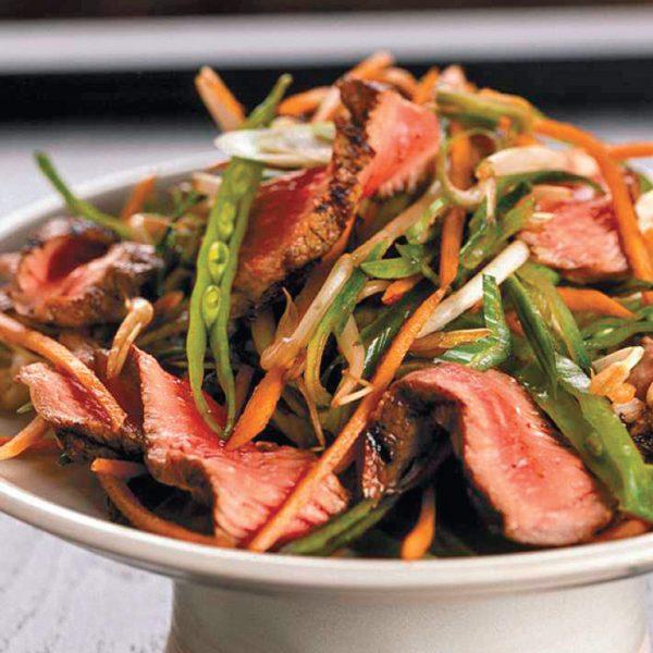 Salade de veau de grain du Québec à la coréenne