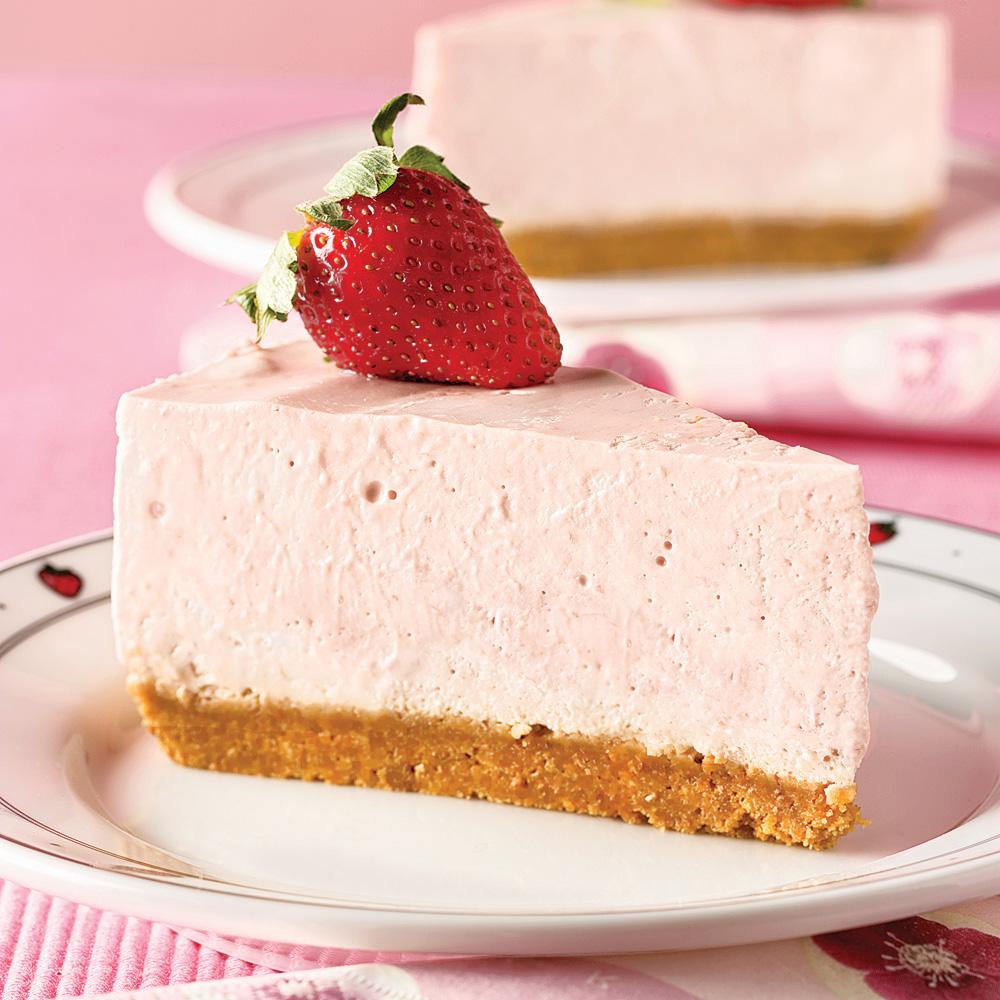 Gâteau au fromage et aux fraises