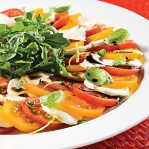 Salade fraîcheur de tomates et mozzarina