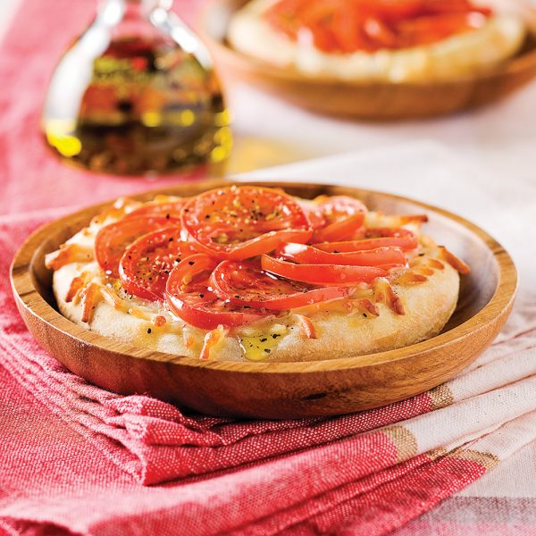 Mini-pizzas relevées
