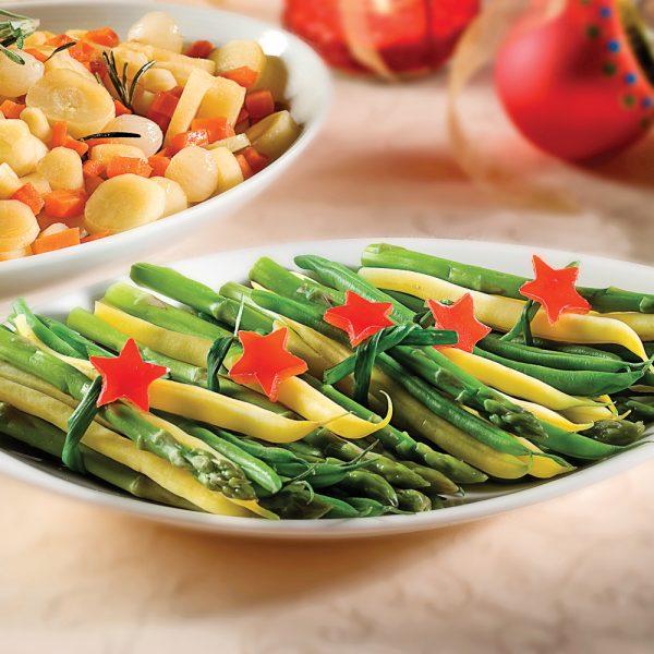 Bouquets d'asperges et de haricots