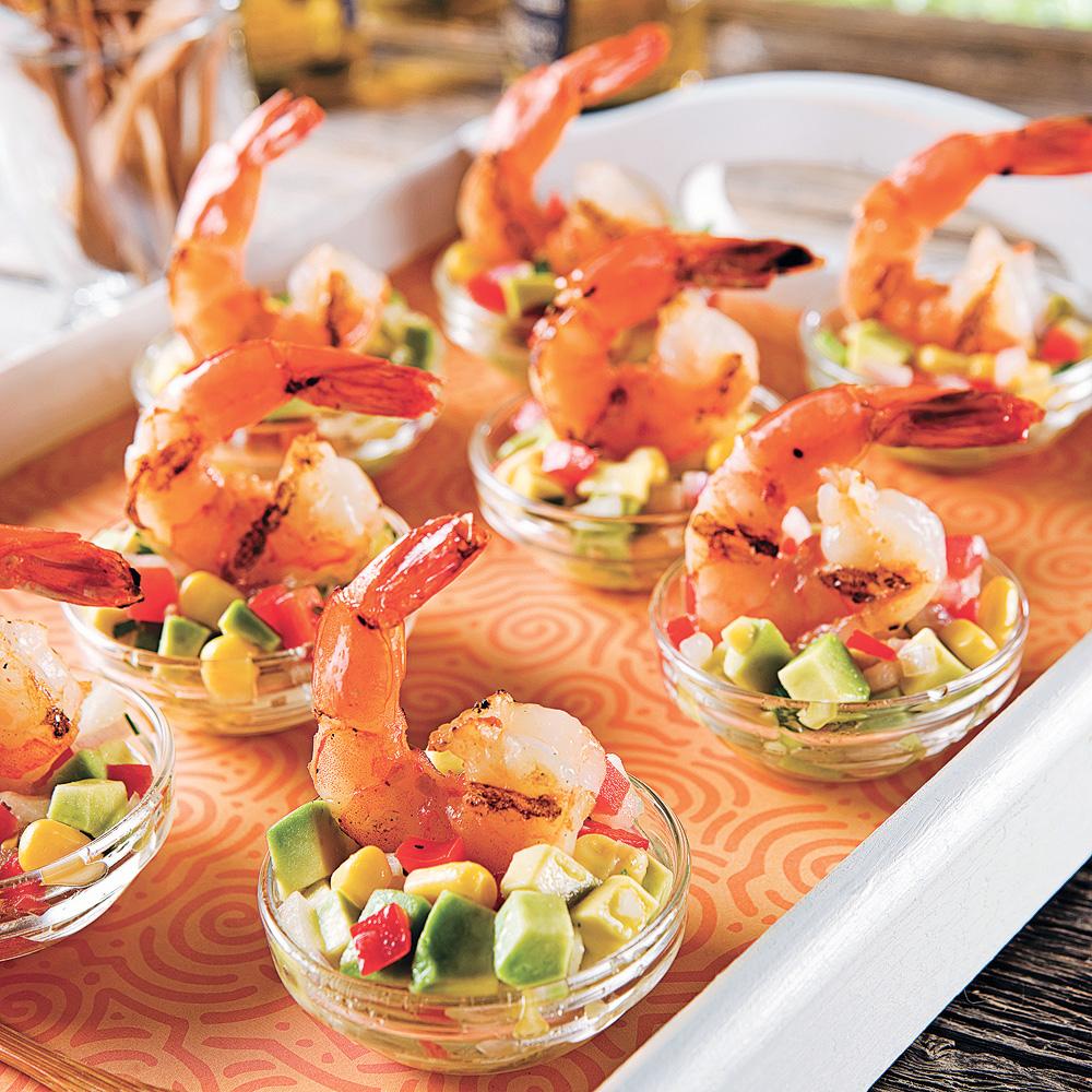 Crevettes à la lime et salsa mexicaine