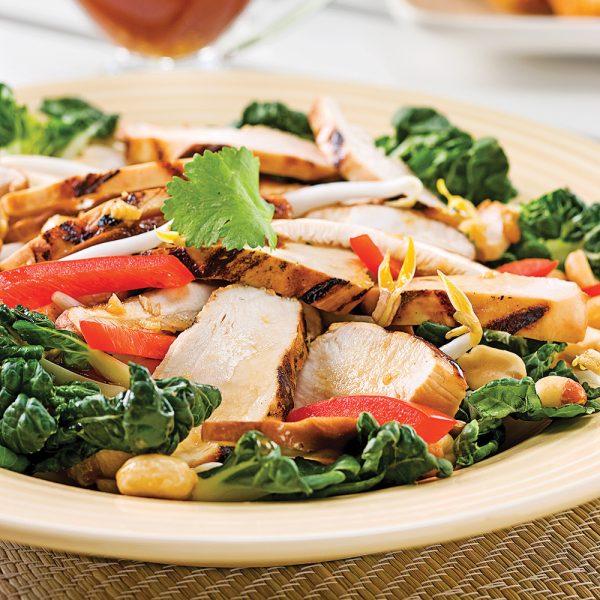 Salade de poulet grillé à la thaï