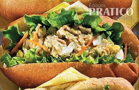 Salade aux oeufs et graines de tournesol