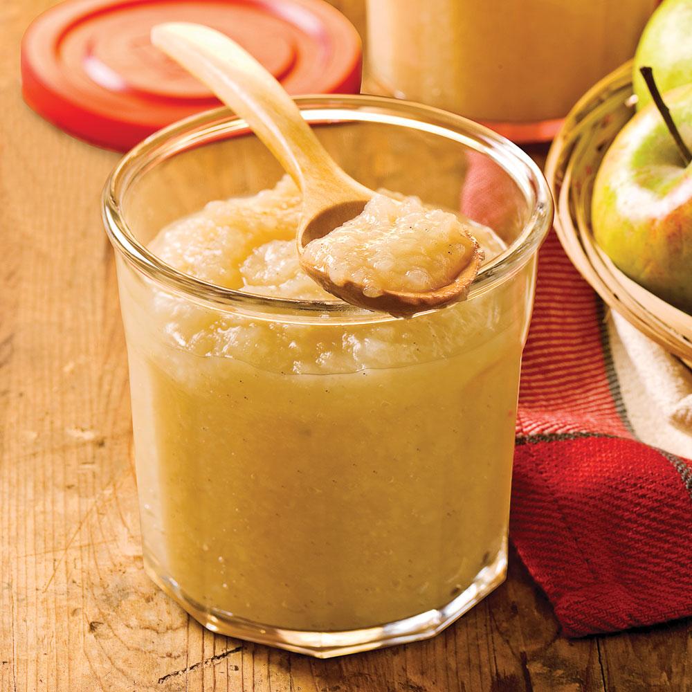 Compote de pommes et de poires à la vanille