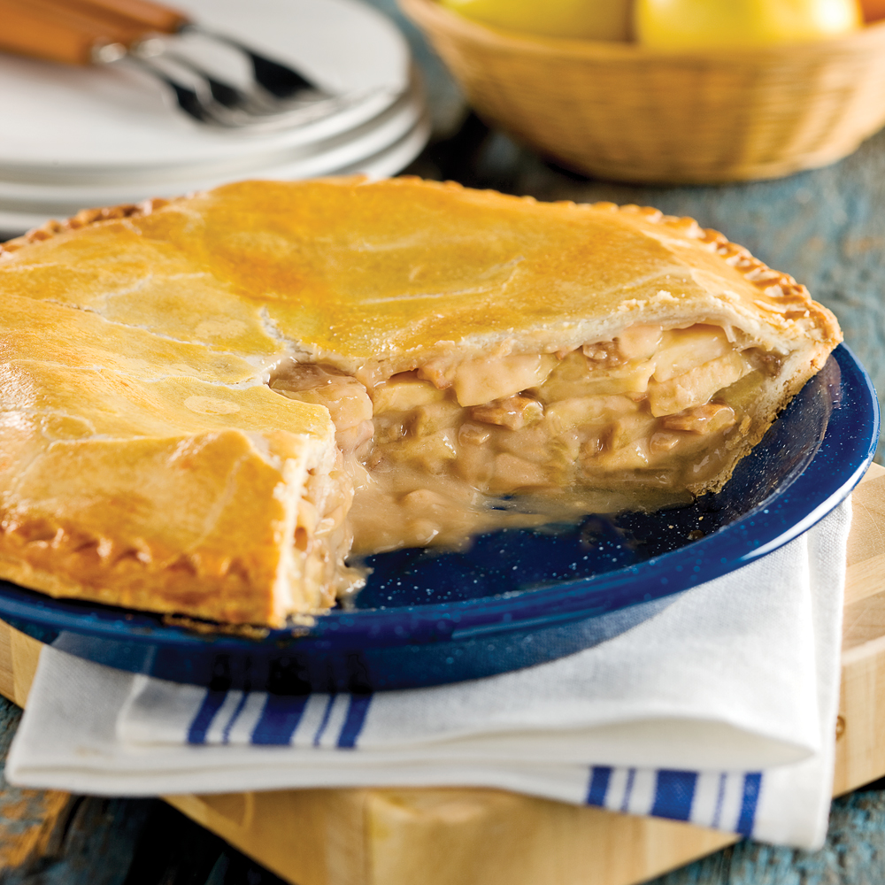 Tarte aux pommes, pacanes et érable