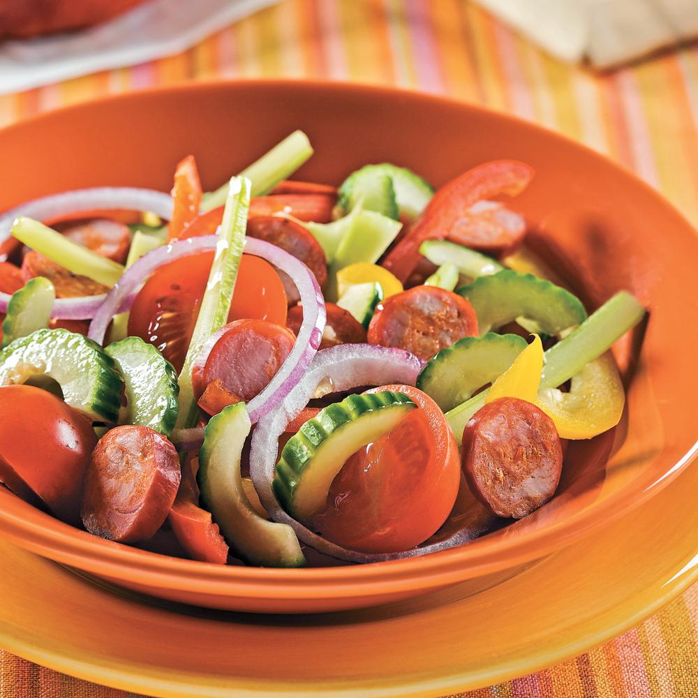 Salade andalouse au chorizo