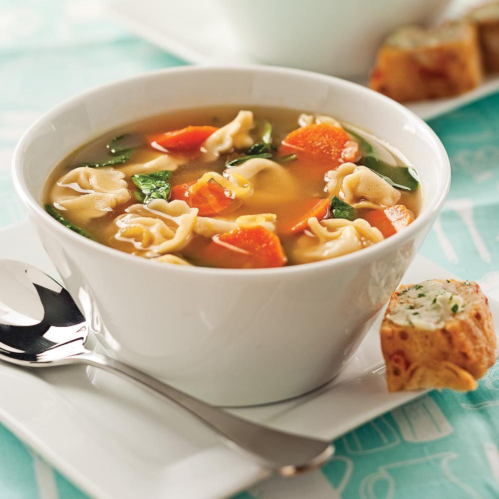 Soupe rapido aux tortellinis