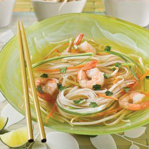 Soupe-repas tonkinoise aux crevettes