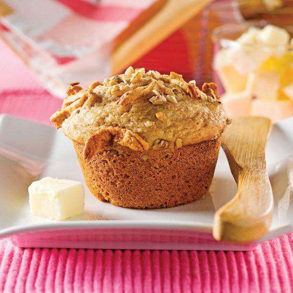 Muffins à la compote de pommes