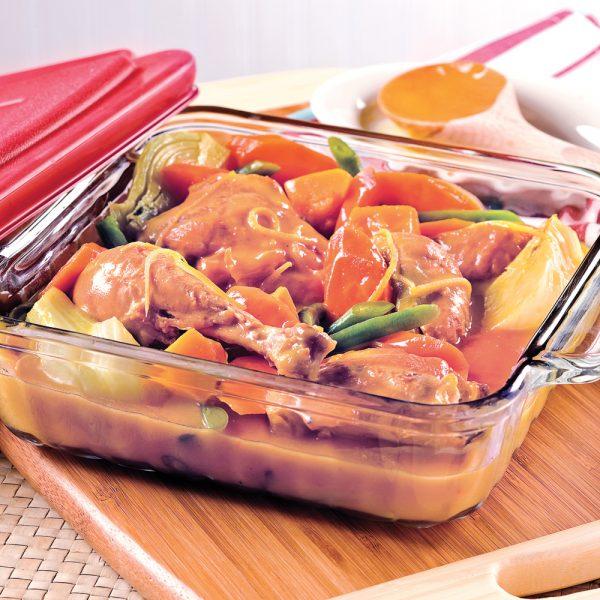 Cuisses de poulet au citron et légumes d'automne
