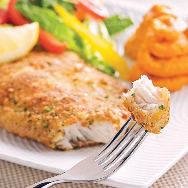 Filets de poisson en croûte citronnée