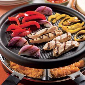 Festin mexicain sur le gril à raclette