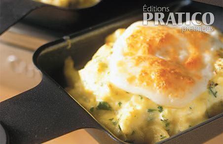 Raclette provolone et oeufs brouillés