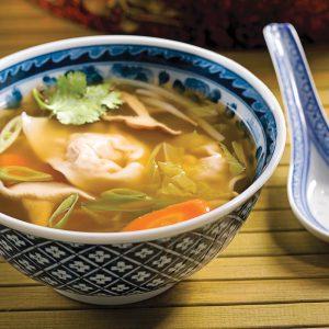 Soupe wonton porc et gingembre