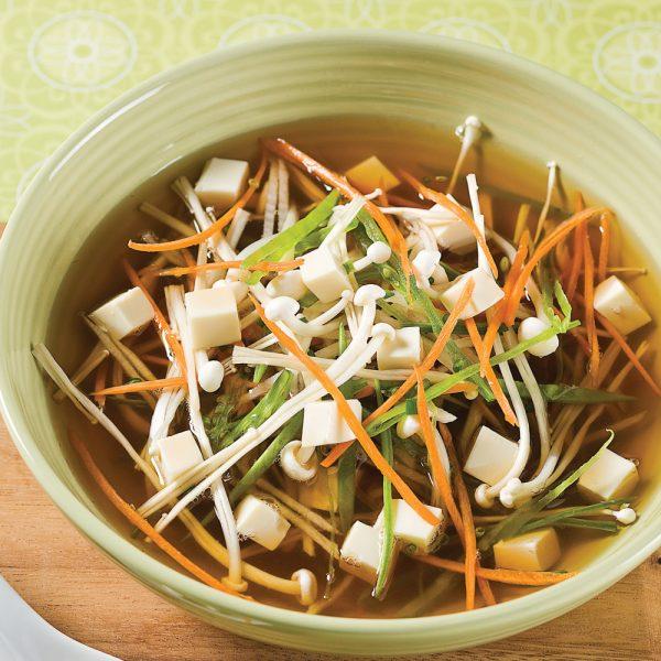 Soupe au miso et tofu