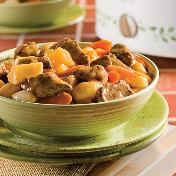 Mijoté de boeuf à l'érable et légumes du potager