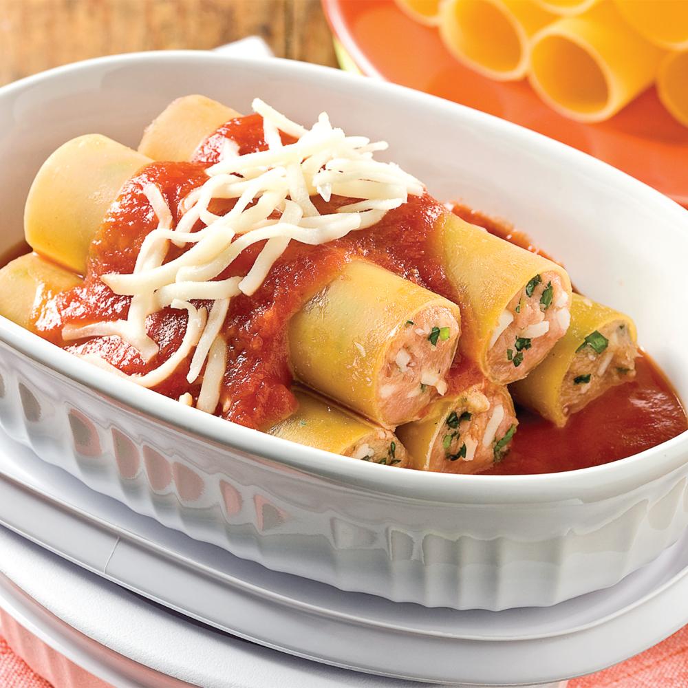 Cannellonis au poulet et parmesan