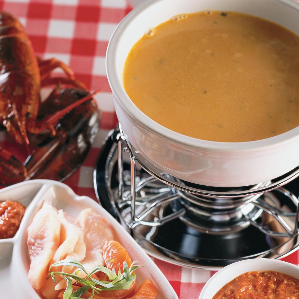 Fondue à la bisque de homard