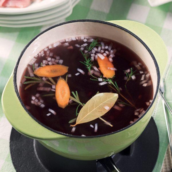 Bouillon pour fondue à la viande