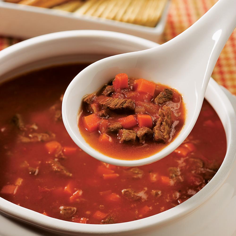 Soupe épicée boeuf et tomates