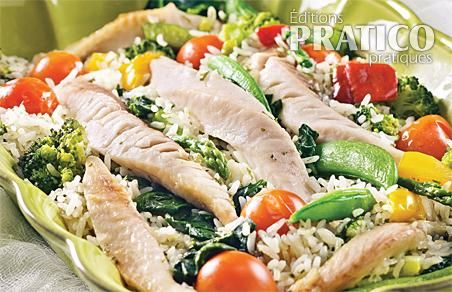 Casserole de poisson et riz aux légumes