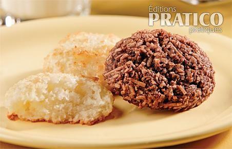 Duo de macarons à la noix de coco