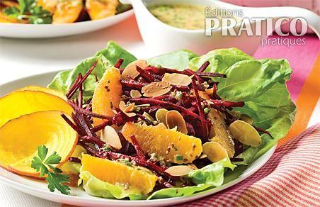 Salade de betteraves crues, oranges et amandes