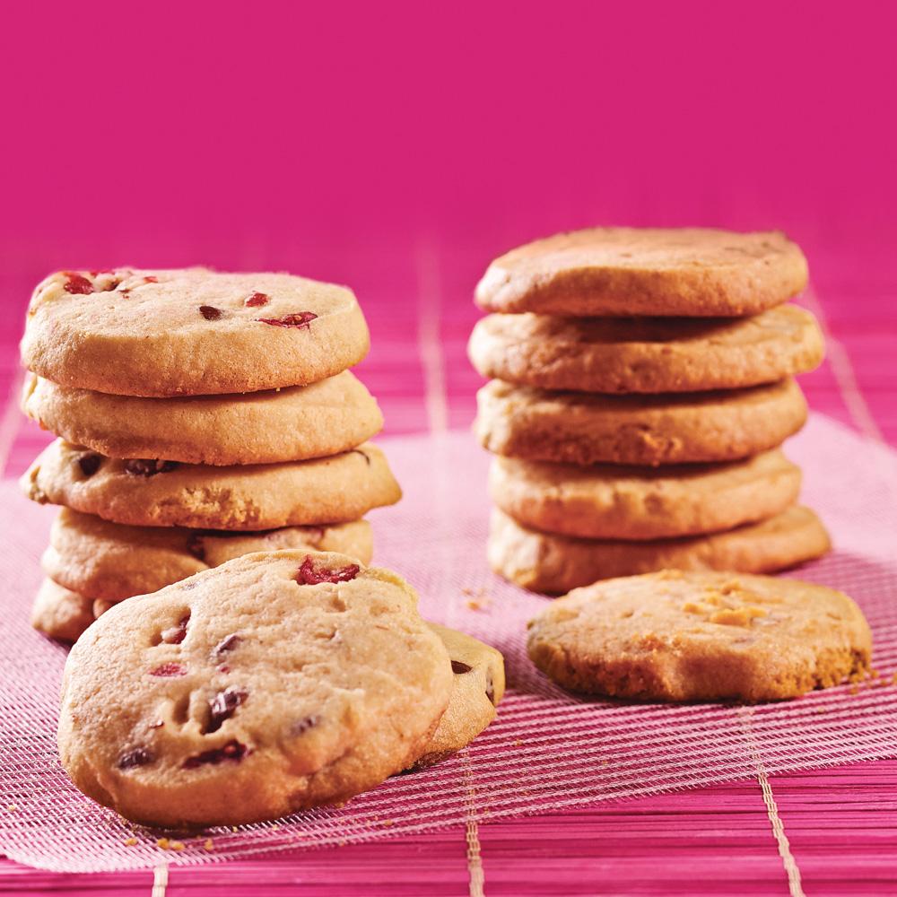 Duo de biscuits croquants