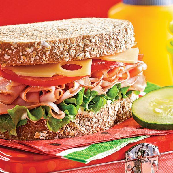 Sandwichs santé au jambon maison