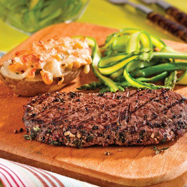 Steak au poivre et fines herbes