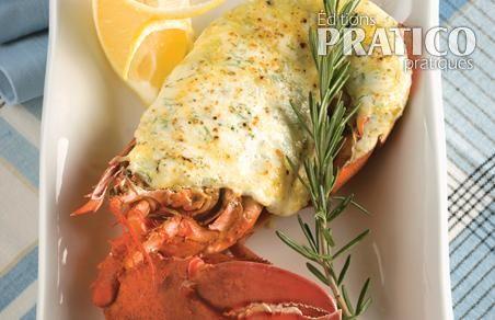 Demi-homard gratiné