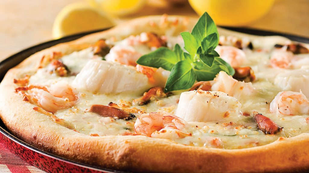 Pizza aux fruits de mer