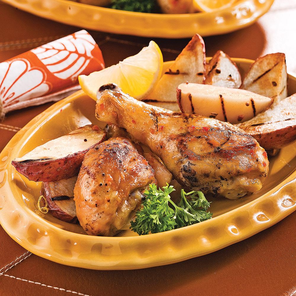 Pilons de poulet piquants à la portugaise