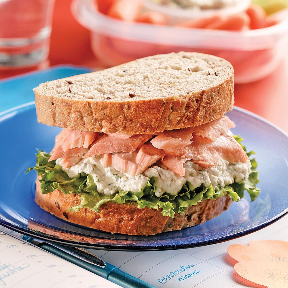 Sandwichs au saumon frais