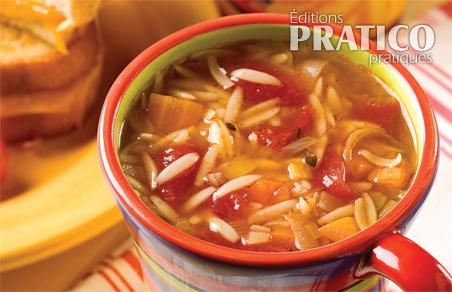 Soupe de tomate et orzo