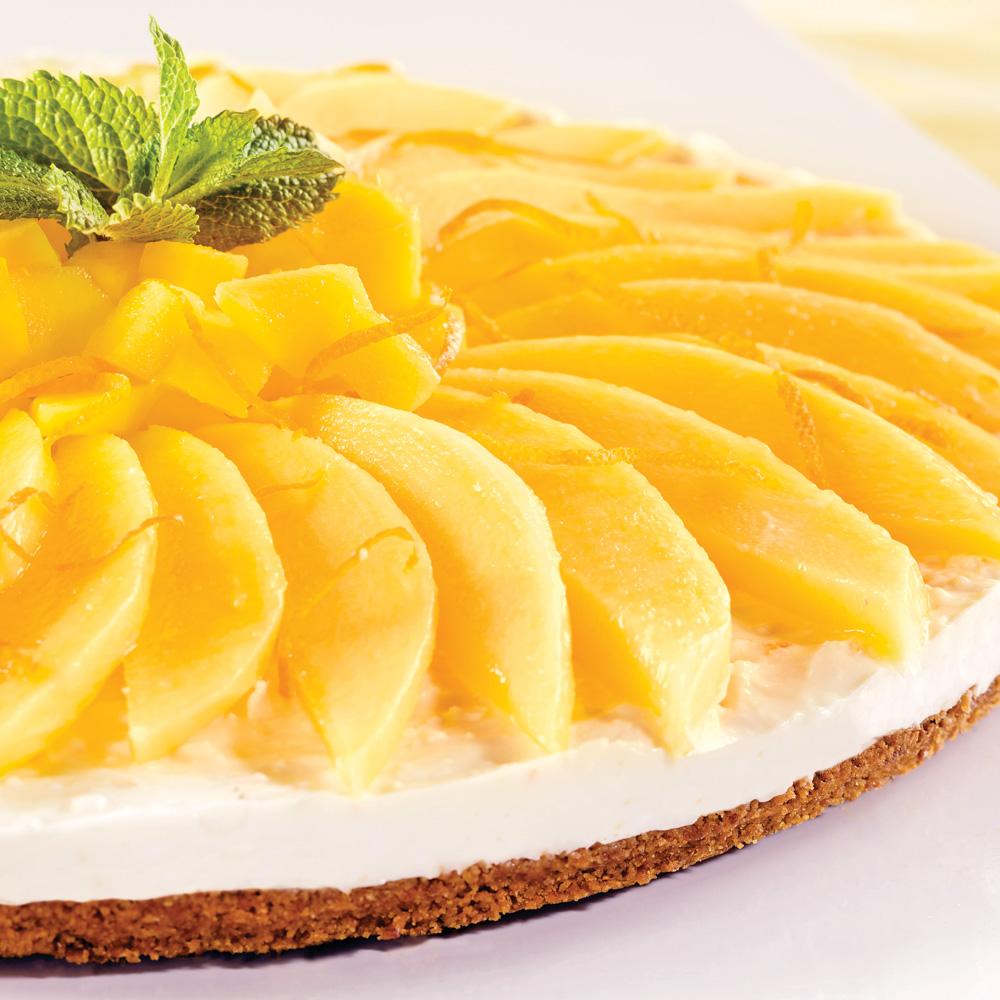 Tarte au fromage et à la mangue