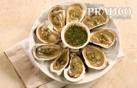 Huîtres et vinaigre aromatisé