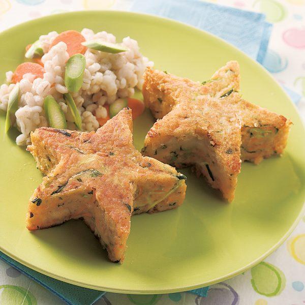 Croquettes de saumon et semoule
