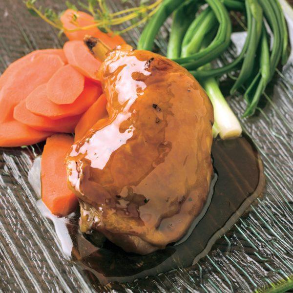 Cuisses de poulet laquées à l'érable