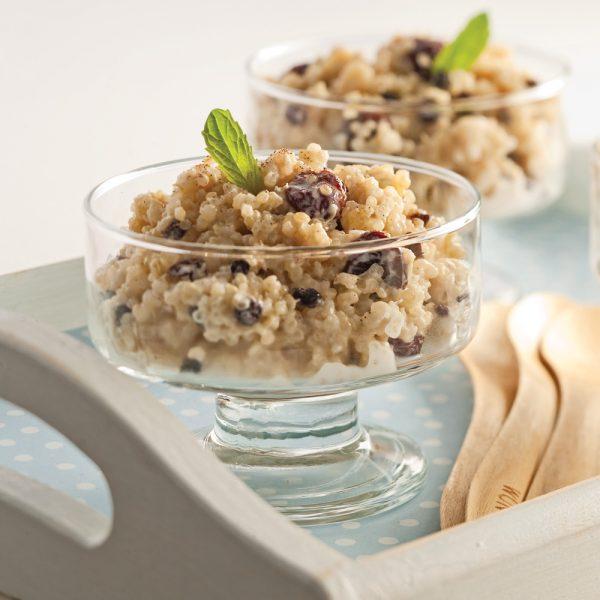 Pouding au quinoa épicé