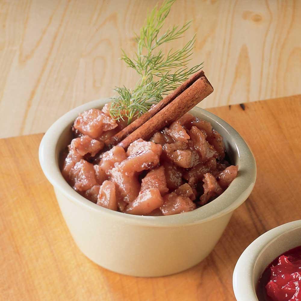 Sauce aux pommes et aux poires pour fondue