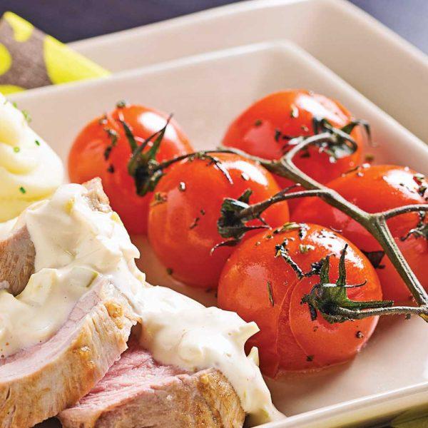 Tomates sur grappes au four