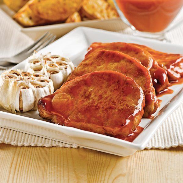 Côtelettes de porc à l'érable et à l'ail