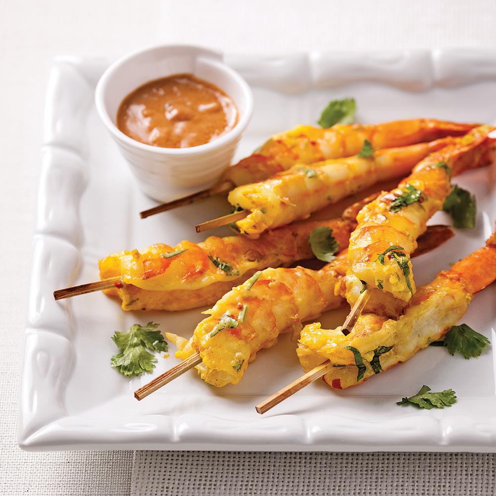 Crevettes jumbo sauce satay