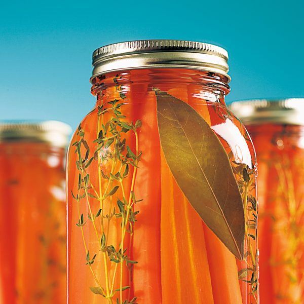 Conserves de carottes au miel et thym