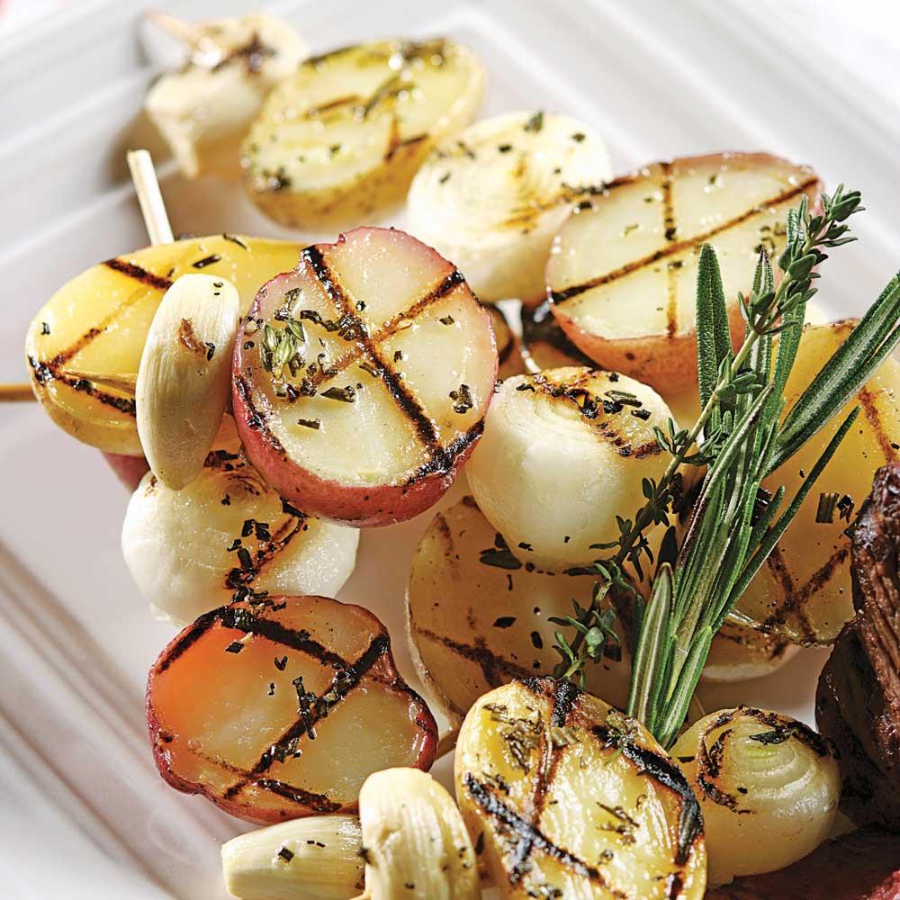 Brochettes de pommes de terre grelots