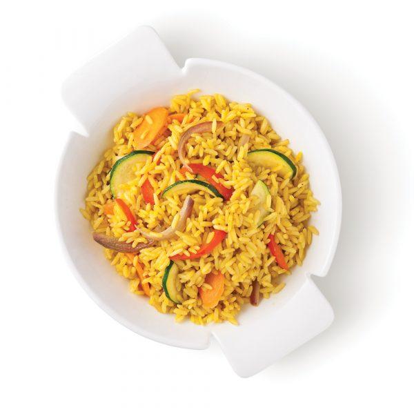 Riz pilaf aux légumes et cari
